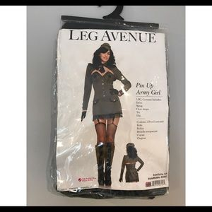 NWT Leg Avenue Army Pin Up Costume